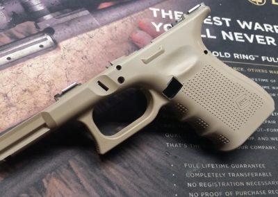 Glock 19 frame Cerakote FDE
